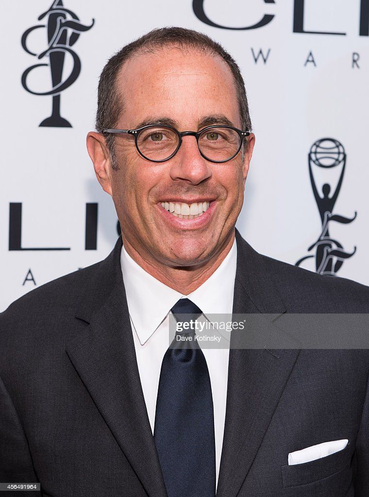 <a gi-track='captionPersonalityLinkClicked' href=/galleries/search?phrase=Jerry+Seinfeld&family=editorial&specificpeople=210541 ng-click='$event.stopPropagation()'>Jerry Seinfeld</a> arrives at 55th Annual CLIO Awards at Cipriani Wall Street on October 1, 2014 in New York City.