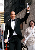 Jerry Seinfeld arrives for the final episode of 'The Late Show with David Letterman' at the Ed Sullivan Theater on May 20 2015 in New York City