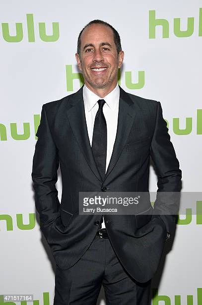 Jerry Seinfeld attends the 2015 Hulu Upfront Presentation at Hammerstein Ballroom on April 29 2015 in New York City