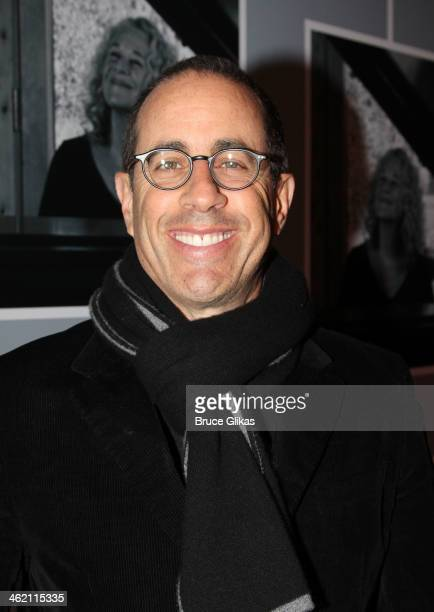 Jerry Seinfeld attends the opening night of 'Beautiful The Carole King Musical' on Broadway at The Stephen Sondheim Theatre on January 12 2014 in New...