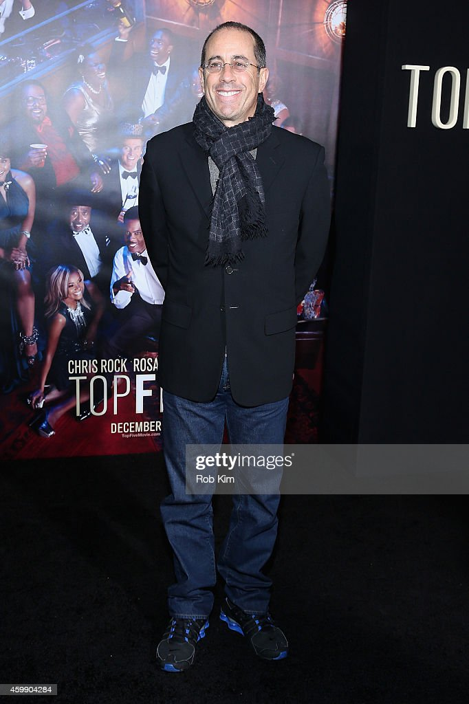 Jerry Seinfeld attends the 'Top Five' New York Premiere at Ziegfeld Theater on December 3, 2014 in New York City.