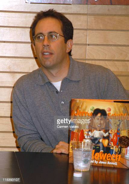 Jerry Seinfeld during Jerry Seinfeld instore book signing of 'Halloween' at Barnes Noble Lincoln Center in New York City New York United States