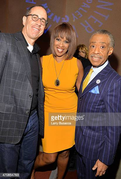 Jerry Seinfeld Gayle King and Al Sharpton attend 'The Tanning Of America' premiere screening and party at Paley Center For Media on February 20 2014...