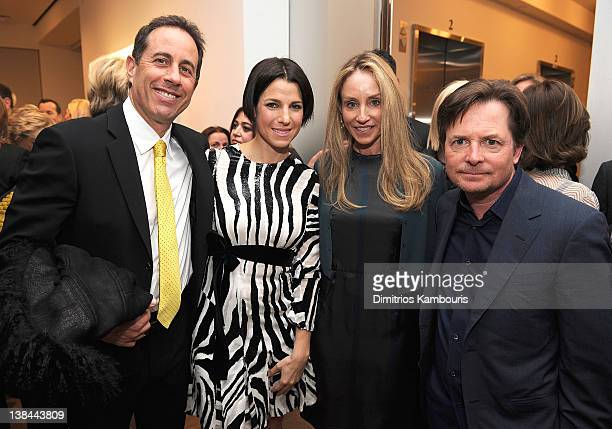 Jerry Seinfeld Jessica Seinfeld Tacy Pollan and Michael J Fox attend the book launch party for Ali Wentworth's new book 'Ali In Wonderland' at...