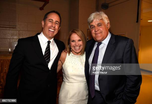 Jerry Seinfeld Katie Couric and Jay Leno attend the National Night Of Laughter And Song event hosted by David Lynch Foundation at the John F Kennedy...