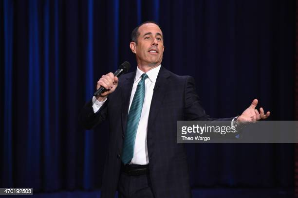 Jerry Seinfeld visits 'The Tonight Show Starring Jimmy Fallon' at Rockefeller Center on February 18 2014 in New York City