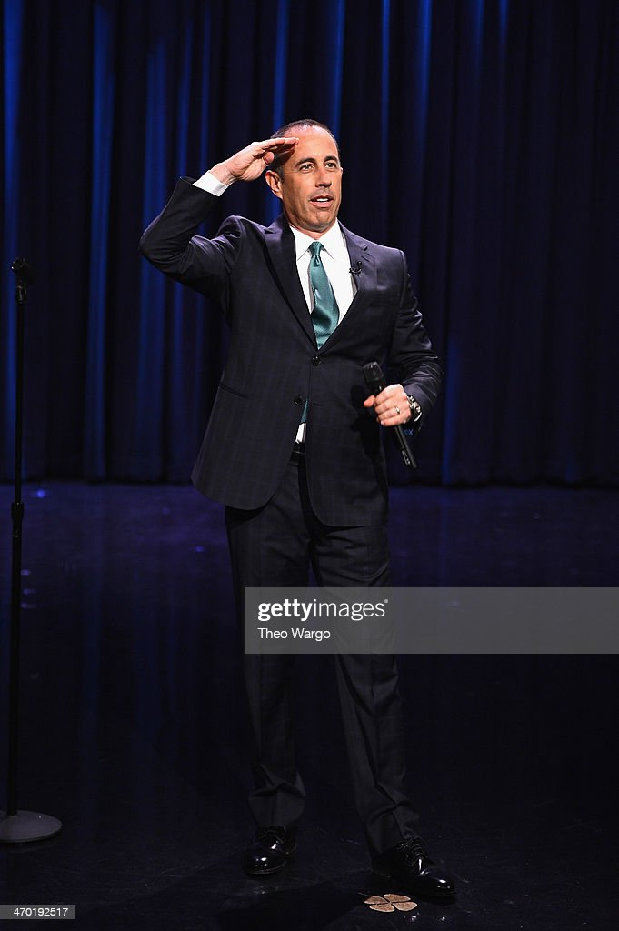 Jerry Seinfeld visits 'The Tonight Show Starring Jimmy Fallon' at Rockefeller Center on February 18, 2014 in New York City.