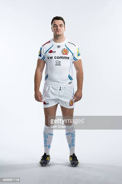 Jerry Sexton of Exeter Chiefs poses for a picture during the BT Photo Shoot at Sandy Park on August 26 2014 in Exeter England