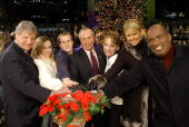 Jerry Speyer Carly Patterson Paul Hamm Mayor Mike Bloomberg Sarah Hughes Nancy O'Dell and Al Roker