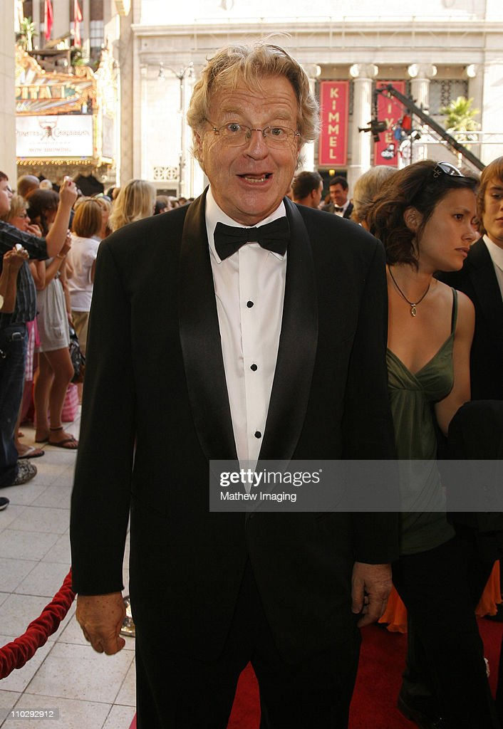 <a gi-track='captionPersonalityLinkClicked' href=/galleries/search?phrase=Jerry+Springer&family=editorial&specificpeople=214761 ng-click='$event.stopPropagation()'>Jerry Springer</a> during 34th Annual Daytime Emmy Awards - Red Carpet at Kodak Theatre in Hollywood, California, United States.