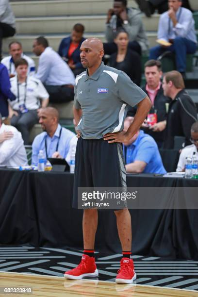 Jerry Stackhouse helps out with drills during the NBA Draft Combine at the Quest Multisport Center on May 11 2017 in Chicago Illinois NOTE TO USER...