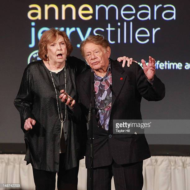 Jerry Stiller and Anne Meara perform to celebrate their lifetime acheivement award at the 2012 Made In NY Awards at Gracie Mansion on June 4 2012 in...