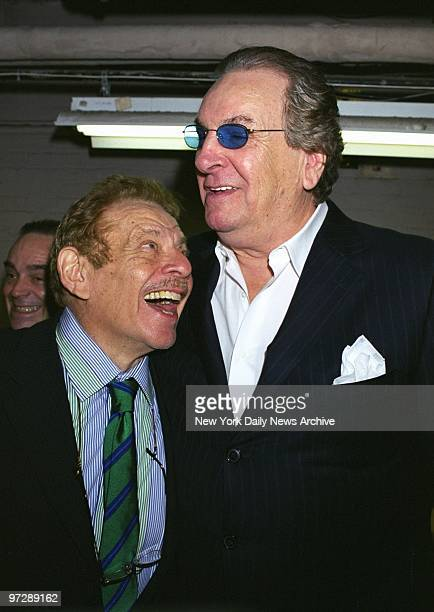 Jerry Stiller finds Danny Aiello someone he can look up to at the Friars Club roast of comedianactor Richard Belzer at Town Hall