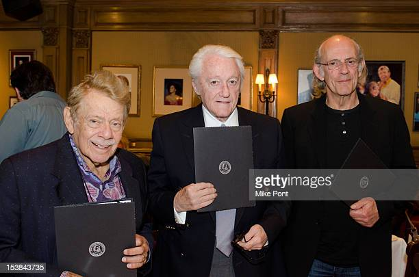 Jerry Stiller Robert Vaughn Christopher Lloyd attend the 'Excuse Me For Living' Friars Club Luncheon on October 9 2012 in New York City