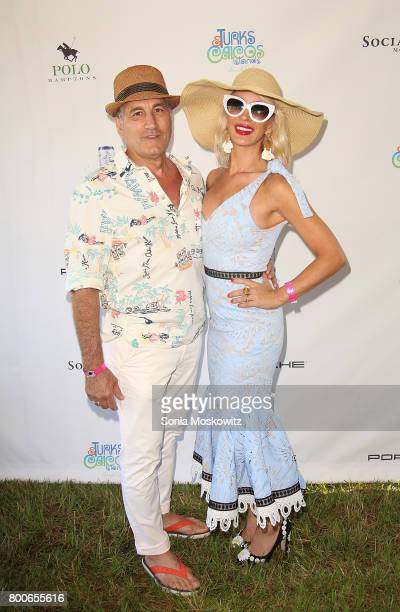 Jerry Turco and Tracy Stern attend the First Annual Polo Hamptons Match at Southampton Polo Club on June 24 2017 in New York City