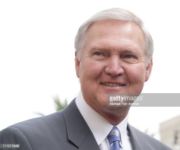 Jerry West during Jerry Buss Honored with a Star on the Hollywood Walk of Fame at 6801 Hollywood Blvd in front of Hollywood Highland in Hollywood CA...