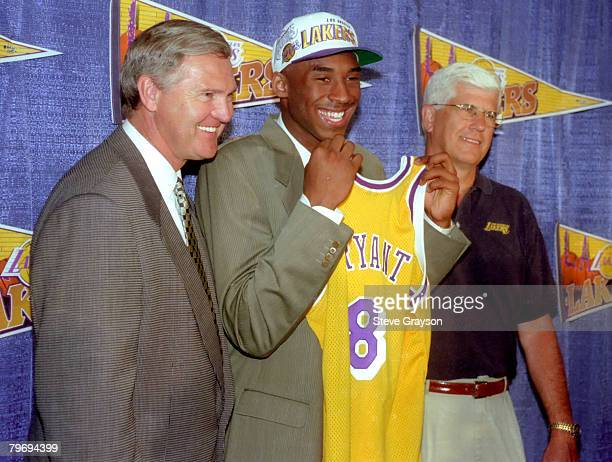 Jerry West GM Kobe Bryant and Head Coach Del Harris