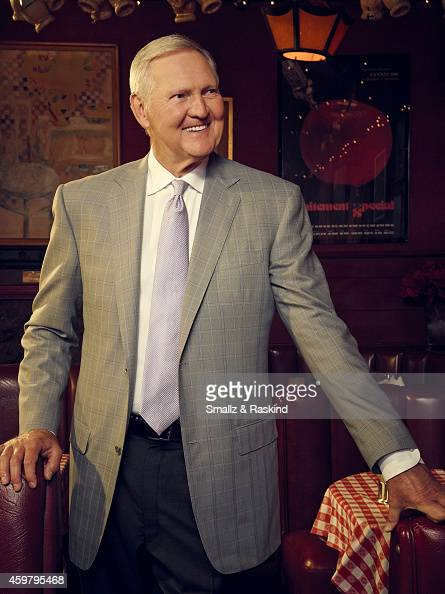 Jerry West is photographed at restaurant Dan Tana's for The Hollywood Reporter on October 3 2014 in Los Angeles California ON DOMESTIC EMBARGO UNTIL...