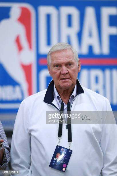 Jerry West of the Golden State Warriors attends the NBA Draft Combine Day 2 at the Quest Multisport Center on May 12 2017 in Chicago Illinois NOTE TO...