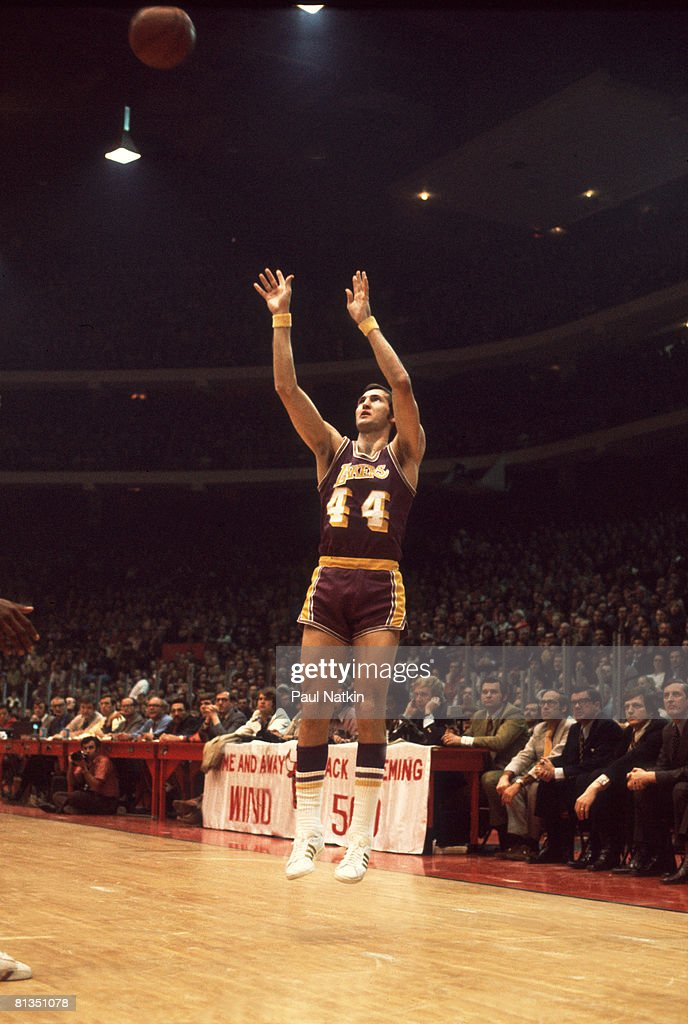 Jerry West of the Los Angeles Lakers Vs Chicago Bulls - 1972 Chicago, Il.