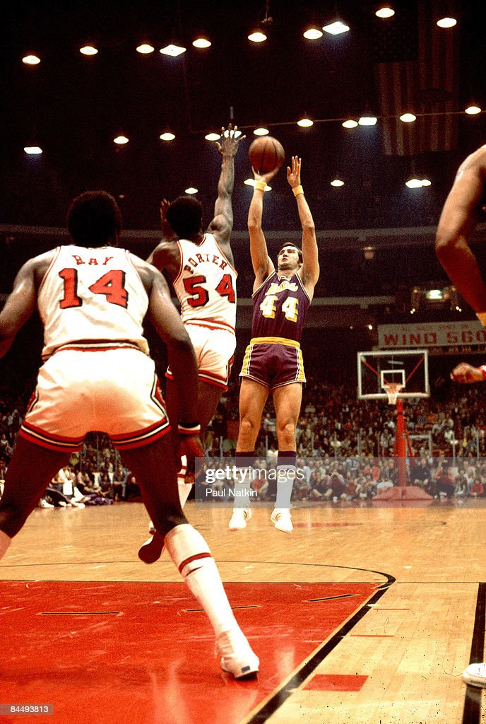 Jerry West of the Los Angeles Lakers - Vs Chicago Bulls 1972 Chicago, Il.