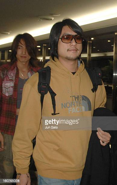 Jerry Yan and Ken Chu of F4 during F4 Arrives in Tokyo to Promote Taiwanese Tourism March 6 2007 at Narita International Airport in Narita Japan