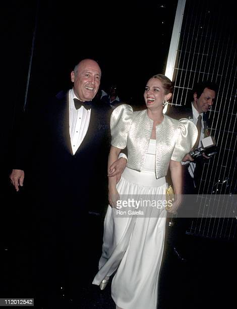 Jerry Zipkin and Carolina Herrera during 'New York New York' New York Premiere After Party at Lincoln Plaza Cinema in New York City New York United...