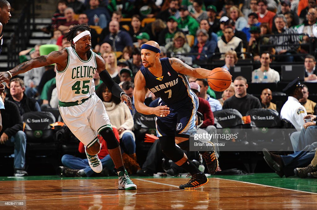 <a gi-track='captionPersonalityLinkClicked' href=/galleries/search?phrase=Jerryd+Bayless&family=editorial&specificpeople=4216027 ng-click='$event.stopPropagation()'>Jerryd Bayless</a> #7 of the Memphis Grizzlies drives against the Boston Celtics on November 27, 2013 at the TD Garden in Boston, Massachusetts.