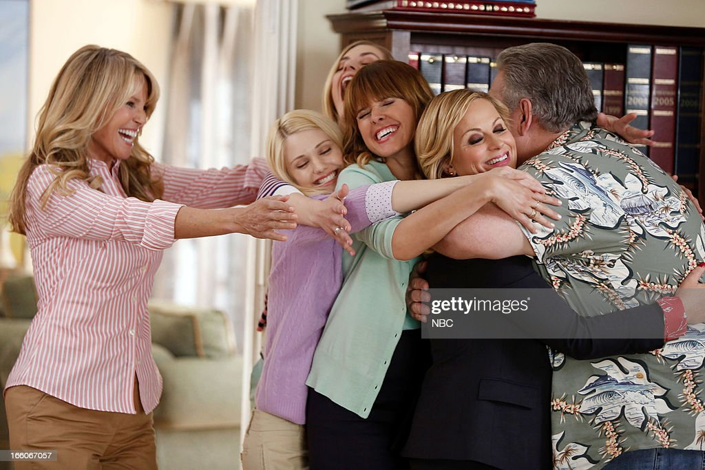 RECREATION 'Jerry's Scrapbook' Episode 521 Pictured Christie Brinkley as Gayle Sarah Wright as Millicent Amy Poehler as Leslie Knope Jim O'Heir as...