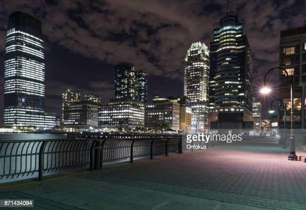 Jersey City Cityscape Illuminated at Night