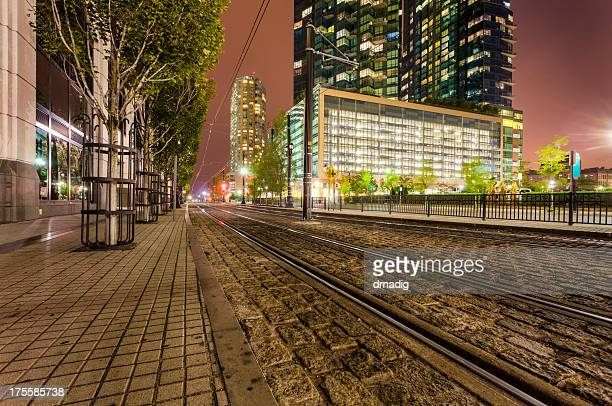 Jersey City - Hudson-Bergen Light Rail Tracks
