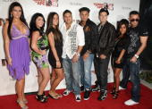 'Jersey Shore' cast members Jenni 'JWoww' Farley Angelina Pivarnick Sammi ÒSweetheartÓ Giancola Ronnie OrtizMagro Paul 'Pauly D' DelVecchio Vinny...
