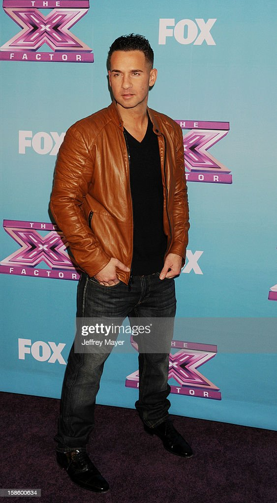 Jersey Shore cast Mike 'The Situation' Sorrentino arrives at Fox's 'The X Factor' Season Finale Night 1 at CBS Television City at CBS Studios on December 19, 2012 in Los Angeles, California.