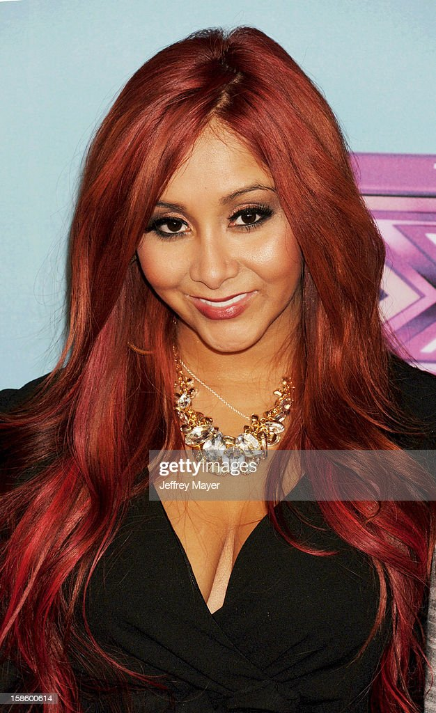 Jersey Shore cast Nicole 'Snooki' Polizzi arrives at Fox's 'The X Factor' Season Finale Night 1 at CBS Television City at CBS Studios on December 19, 2012 in Los Angeles, California.
