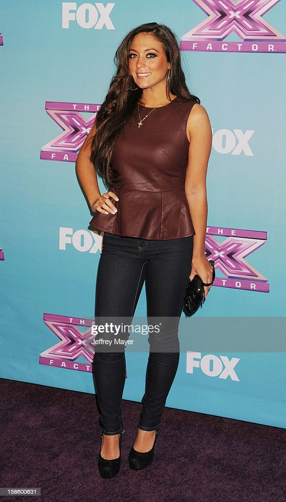 Jersey Shore cast Sammi 'Sweetheart' Giancola arrives at Fox's 'The X Factor' Season Finale Night 1 at CBS Television City at CBS Studios on December 19, 2012 in Los Angeles, California.