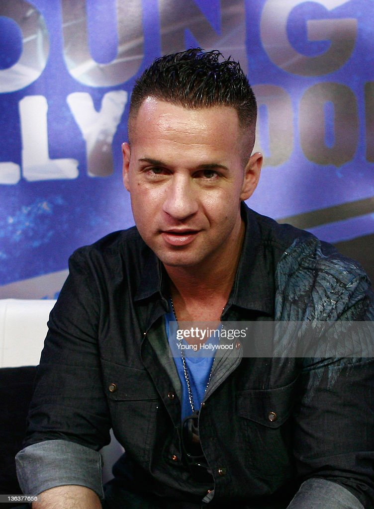 Jersey Shore star Mike 'The Situation' Sorrentino at the Young Hollywood Studio on January 3 2012 in Los Angeles California