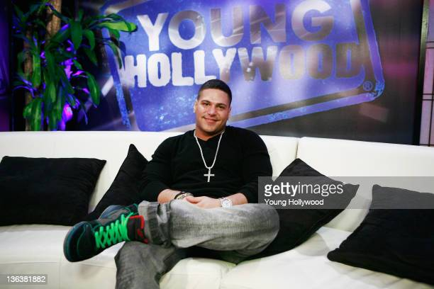 Jersey Shore star Ronnie OrtizMagro at the Young Hollywood Studio on January 3 2012 in Los Angeles California