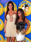 'Jersey Shore's' and Jenni 'JWOWW' Farley and Nicole 'Snooki' Polizzi attend the premiere of 'Grown Ups' at the Ziegfeld Theatre on June 23 2010 in...