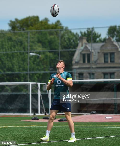Jersey United States 8 June 2017 Ireland's Garry Ringrose during squad training at the Stevens Institute of Technology in Hoboken New Jersey USA