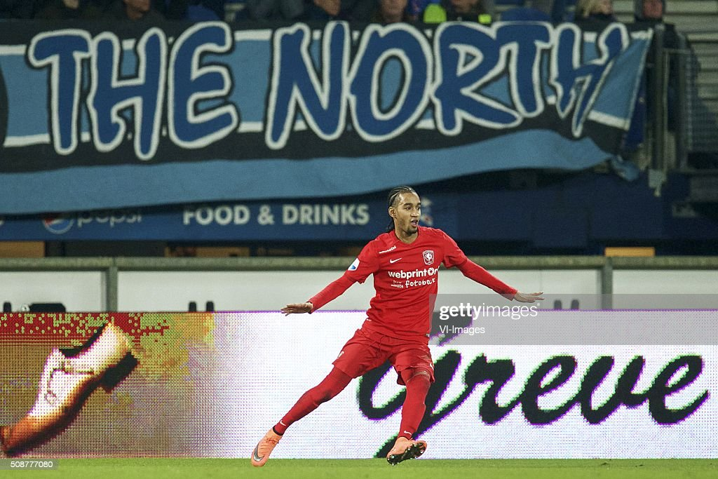 Jerson Cabral of FC Twente during the Dutch Eredivisie match between sc Heerenveen and FC Twente at Abe Lenstra Stadium on February 06, 2016 in Heerenveen, The Netherlands