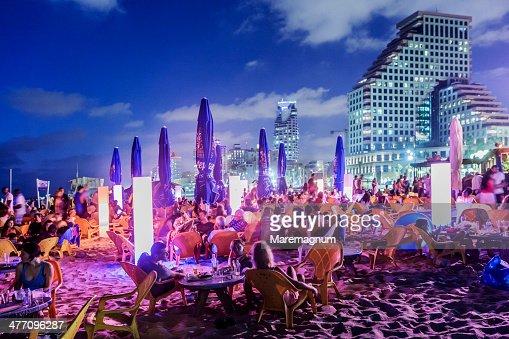 Jerusalem beach, Friday night party