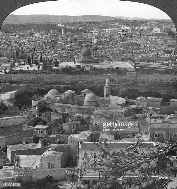 'Jerusalem the Holy City rescued from the Turks' Palestine World War I c19171918 The British captured Jerusalem from the Turks in December 1917 From...