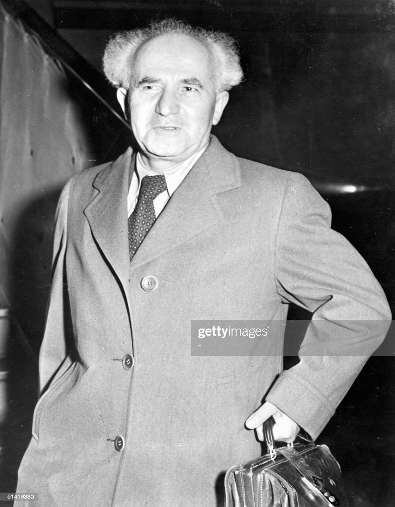 David Gryn better known as David BenGurion in file picture dated 1948 BenGurion the Israeli first Prime Minister who signed the proclamation of...