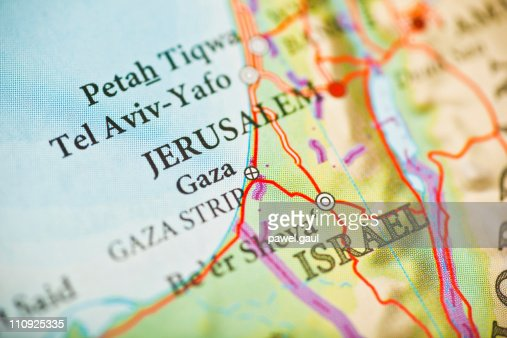 Jerusalem,Israel map