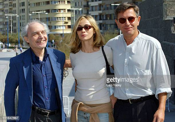 Jerzy Radziwilowicz Emmanuelle Beart and director Jacques Rivette