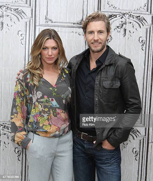 Jes Macallan and Brett Tucker attend AOL Build Presents Jes Macallan And Brett Tucker at AOL Studios In New York on June 18 2015 in New York City