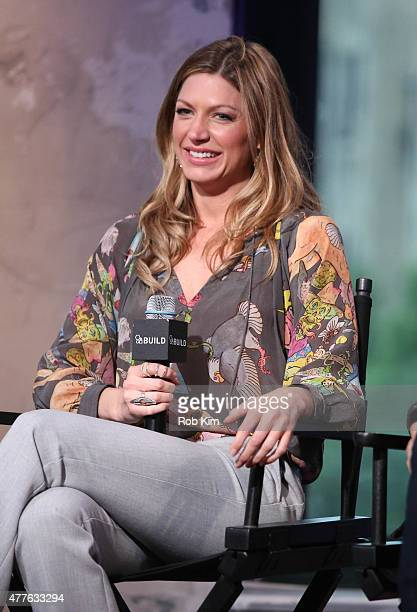 Jes Macallan attends AOL Build Presents Jes Macallan And Brett Tucker at AOL Studios In New York on June 18 2015 in New York City