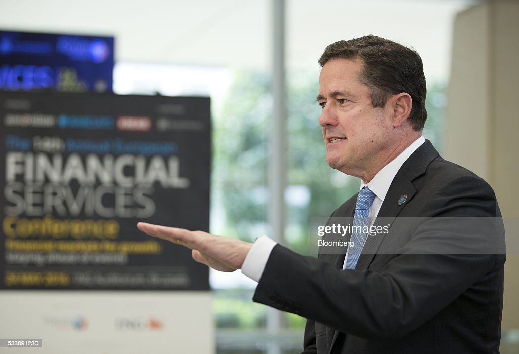Jes Staley, chief executive officer of Barclays Plc, gestures whilst speaking during a Bloomberg Television interview at the European financial services conference in Brussels, Belgium, on Tuesday, May 24, 2016. European investment banks are losing market share to U.S. firms, Staley said during his speech in Brussels. Photographer: Jasper Juinen/Bloomberg via Getty Images