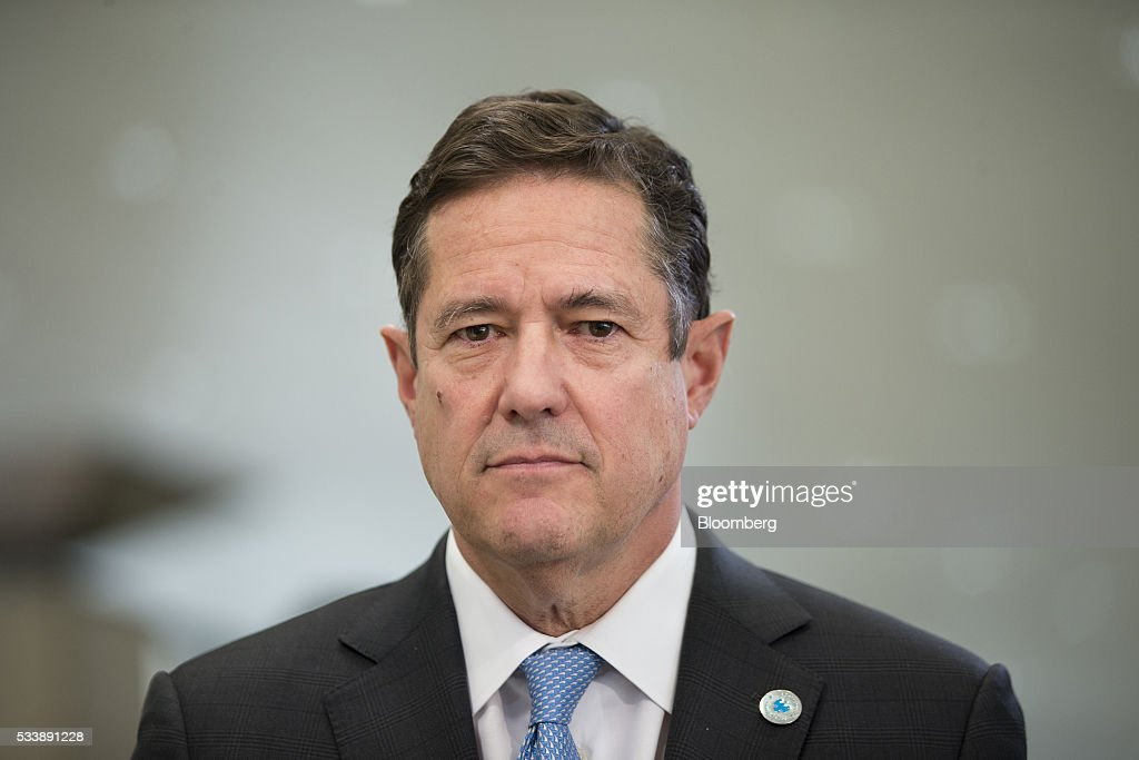 Jes Staley, chief executive officer of Barclays Plc, poses for a photograph ahead of a Bloomberg Television interview at the European financial services conference in Brussels, Belgium, on Tuesday, May 24, 2016. European investment banks are losing market share to U.S. firms, Staley said during his speech in Brussels. Photographer: Jasper Juinen/Bloomberg via Getty Images