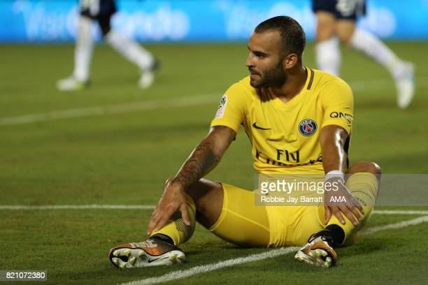 Jese of Paris SaintGermain reacts during the International Champions Cup match between Paris SaintGermain and Tottenham Hotspur on July 22 2017 in...